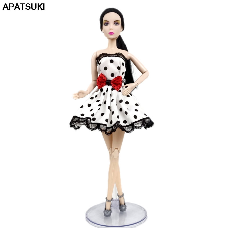 """Red Summer Dress Short Dress For 11.5/"""" Doll Clothes Outfit 1//6 Doll Accessories"""