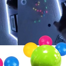 Target-Ball Sucker Sticky-Decompression-Toys Luminous-Wall Colorful Adult Teen for Kid