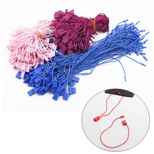 XUNZHE 100 Pcs 20cm Clothes Tag Clothing Wire Rope Single-Hand Rope Hanging Plastic Beads Square Tags Labels Polyester Cord