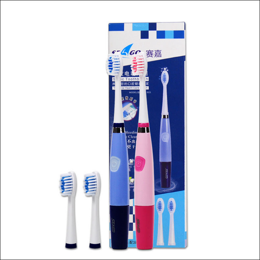 Seago Adult Power Toothbrush Sonic Dupont Nylon Portable Toothbrush Battery Operated Electric Tooth birthday gift sg-915 image