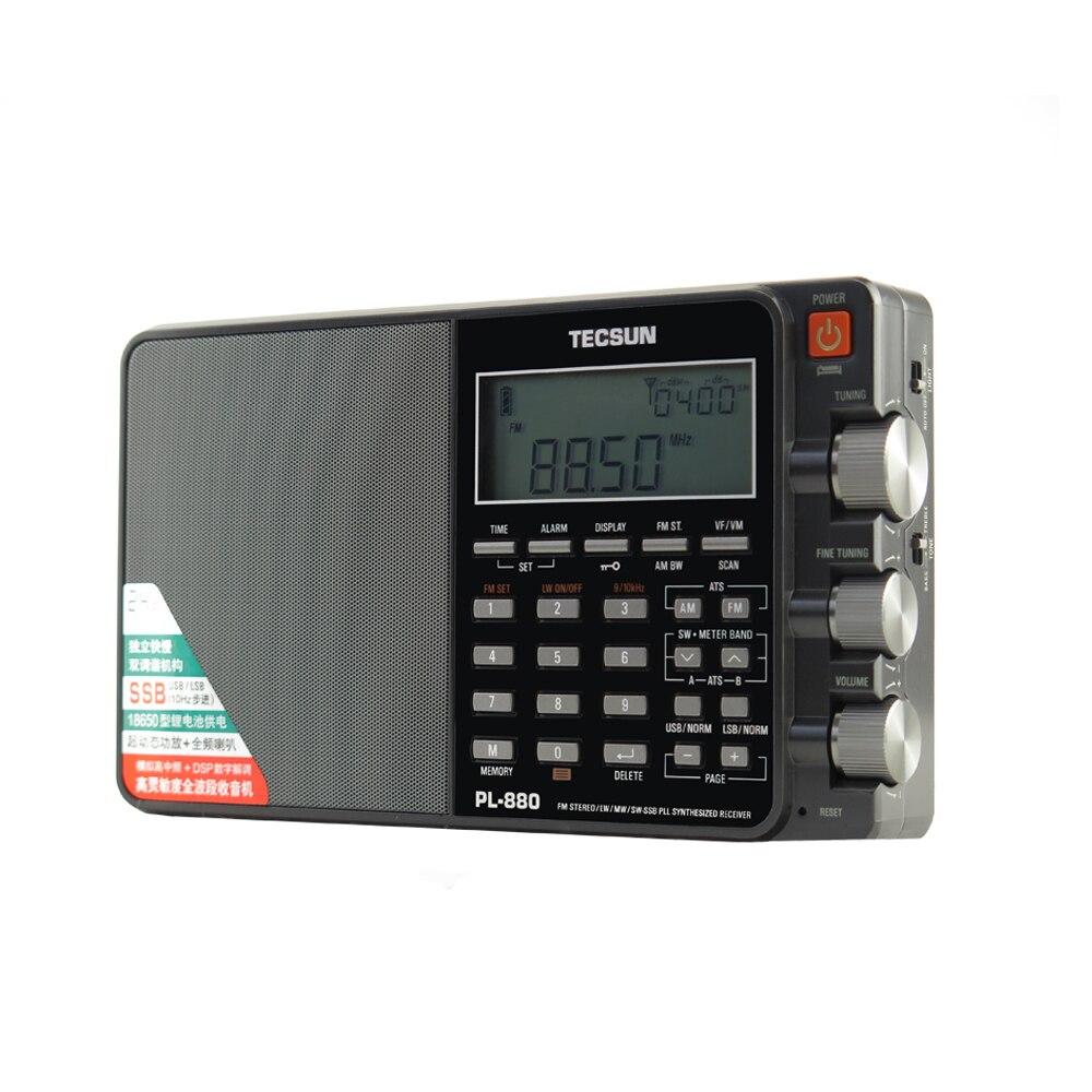 Image 2 - Tecsun PL 880 Radio Full Band Digital Tuned Stereo Short Wave HAM Radio Portatil Am Fm LW/SW/MW/SSB High end, metallic receiverRadio   -