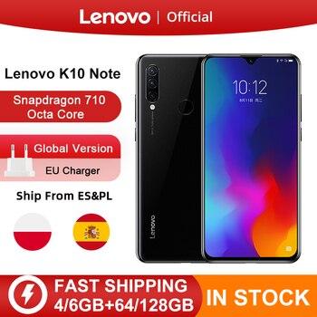Перейти на Алиэкспресс и купить Lenovo K10 Note (Z6 Lite) 64 Гб 128 ГБ Восьмиядерный процессор Snapdragon 710 с тройной задней камерой 6,3 дюйма, 4050 мАч