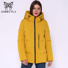 AORRYVLA 2019 Fashion Womens Winter Jackets Short Warm Hooded Down Jacket Casual Solid Sweet for female AO1936