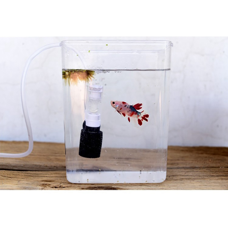 Ultra-quiet External Mini Filter Small Pneumatic Filter Aquarium Mute Submersible Oxygen Fish Aquarium Pump Accessories