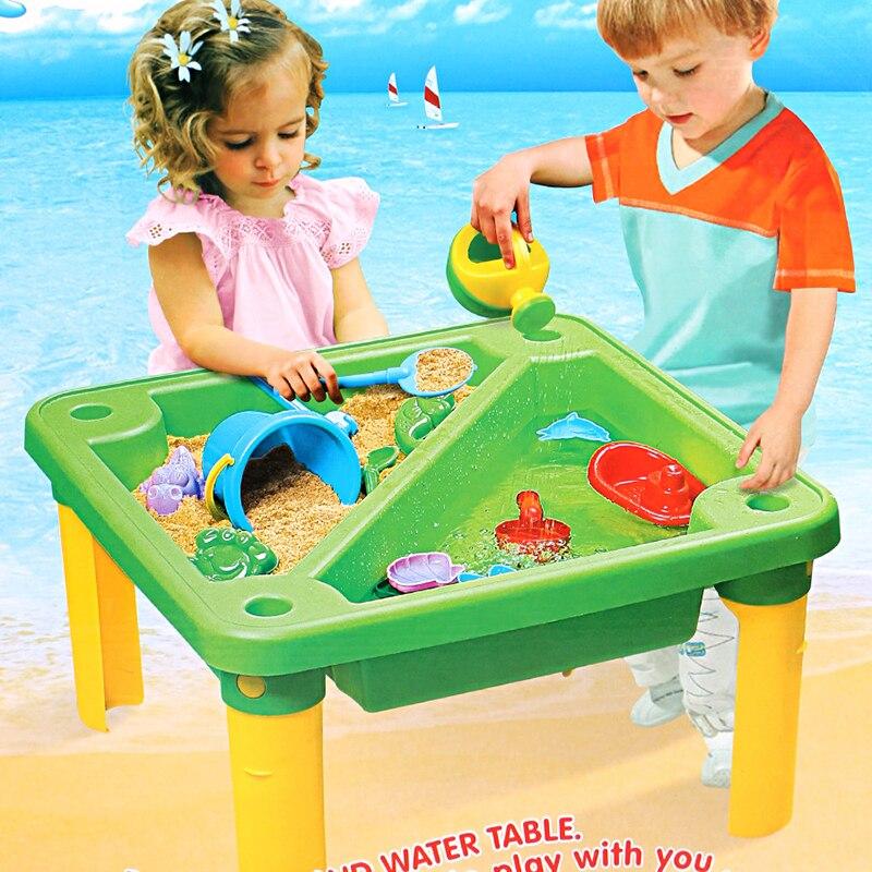 Été grand rouge plage Table jouet ensemble sable seau salle de bain bain jouer eau sable creuser sable outil pelle jouer sable costume