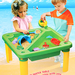 Летний большой красный пляжный стол набор игрушек песочный ковш для ванной комнаты для игры в воду песок копание песка инструмент Лопата иг...
