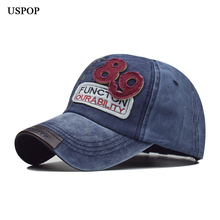 USPOP 2019 Women men baseball caps embroidered letter Cap washable cotton hat unisex number 89 patch visor cap