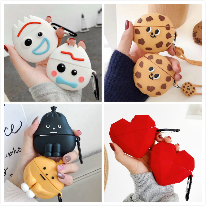 Cute Earphone Case For Airpods Pro Case Silicone Cartoon Heart Earpods/Headphone Cover For Apple Air Pods Pro 3 Case Accessories