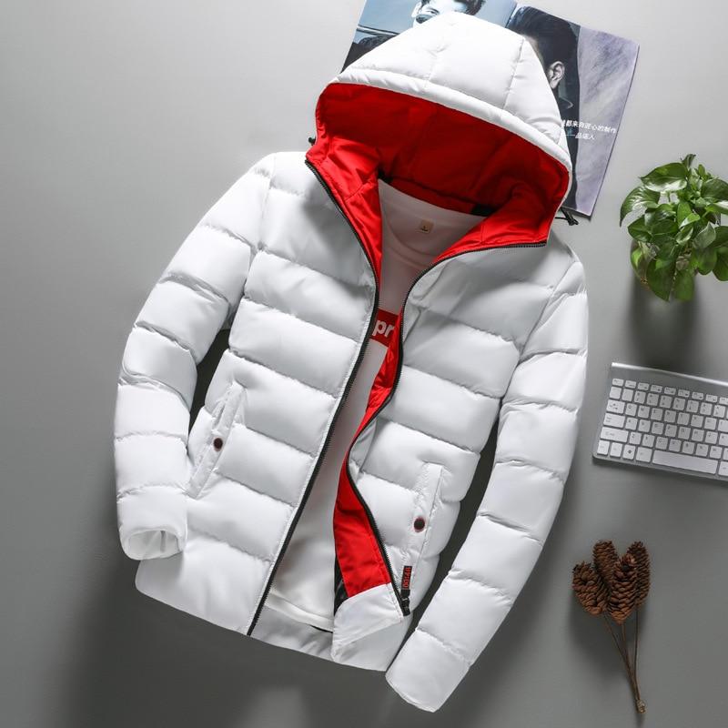 Fashion Mens Coat Men Clothes Boys Casual Warm Hooded Winter Zipper Coat Outwear Jacket Hip Hop Parkas