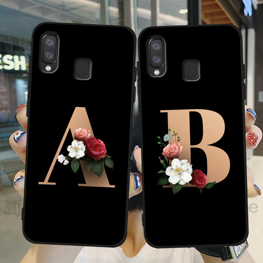 Nama Kustom Huruf Monogram Bunga Lembut Tpu Phone Case Untuk Samsung Galaxy A10 A20 A30 A40 A50 A70 2019 A7 A9 A6 Plus 2018 Cover Dilengkapi Kasus Aliexpress