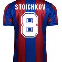 Retro 1991/92 Stoichkov Laudrup Eusebio Guardiola Koeman  Classic Men soccer jerseys Vintage Jersey .