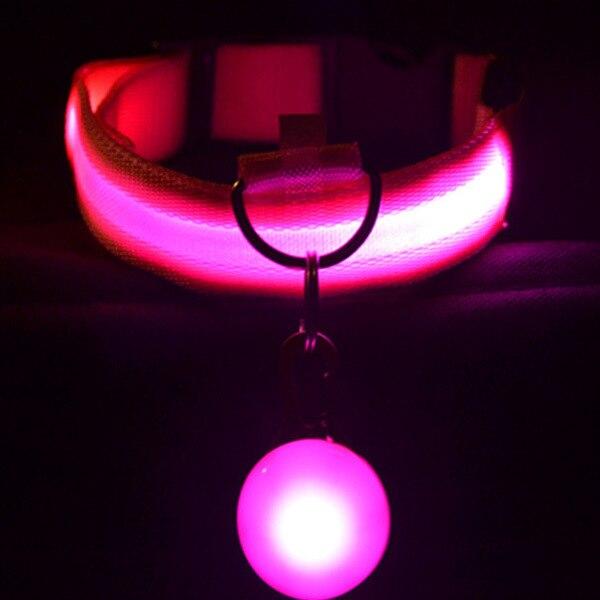USB Charging LED Luminous Dog Collar Cat Collar Teddy Golden Retriever Pet Decorations