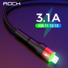 USB Cable For iPhone 11 Pro XS MAX XR X 8 7 6S 6Plus 5 5S 3.1A LED Light