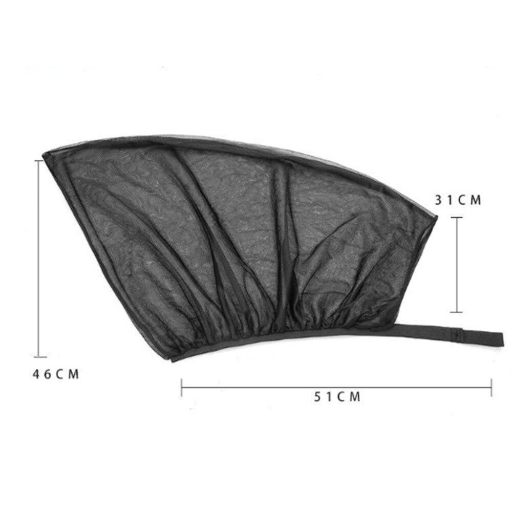 1 Pair Of Car Black Gauze Side Curtain Side Window Sunshade Summer Sunscreen Mosquito Blind Shade Hood