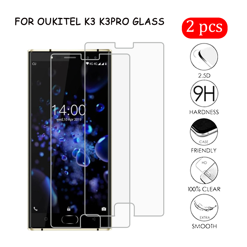 2Pcs Glass For Oukitel K3 Pro 2.5D Protective Tempered Glass For Oukitel K3 Premium Screen Protector Cover Anti-glare Film