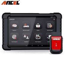 Ancel X6 herramienta de diagnóstico bolsa de aire herramientas de escaneo simuladores de trabajo con tableta Android Pad por Bluetooth inalámbrico OBD2 escáner ODB2