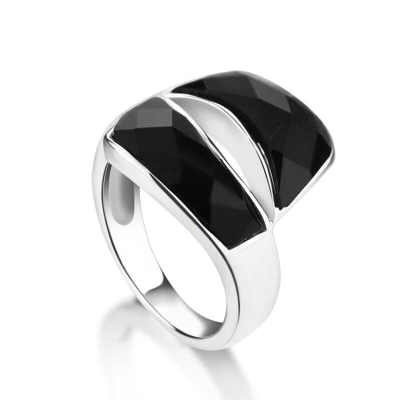 Módní široký stříbrný prsten obnovující starodávné způsoby dámské prsteny 925 šterlinků stříbrných ukazováčků prstových šperků