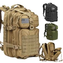 50 л большой емкости военный тактический рюкзак человек сумка открытый водонепроницаемый штурмовой сумки туризм рюкзак упаковка охота кемпинг мешок