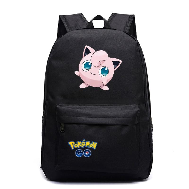 Pokemon Backpack Pocket Monster School Bag Ash Ketchum/Pikachu School Backpacks Girls Boys mochila Toddler Bag Kids Book Bags
