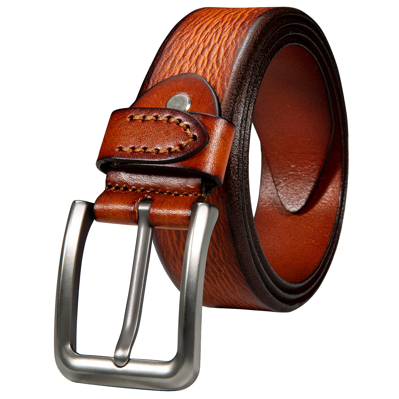 Классический винтажный Повседневный ремень с высоким берцем, красный, коричневый ремень из натуральной коровьей кожи, мужской повседневны...