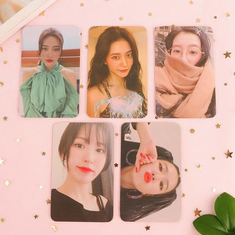 KPOP Red Velvet Postcard PHOTO Cards 5 Pcs K-pop Red Velvet Yeri JOY SeulGi Wendy LOMO Card Kpop  Photocard Album
