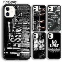 Krajews treino ginásio crossfit citação telefone caso capa para iphone 5S 6s 7 8 plus x xs xr 11 12 pro max samsung s7 s9 s10