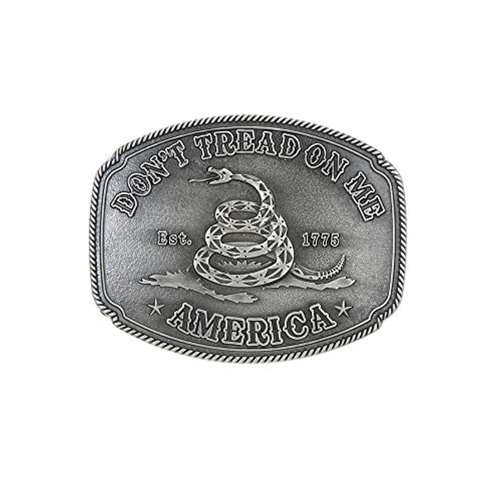 The Snake Pattern Silver  Belt  Buckle For Man Western Cowboy Buckle Without Belt Custom Alloy Width 4cm