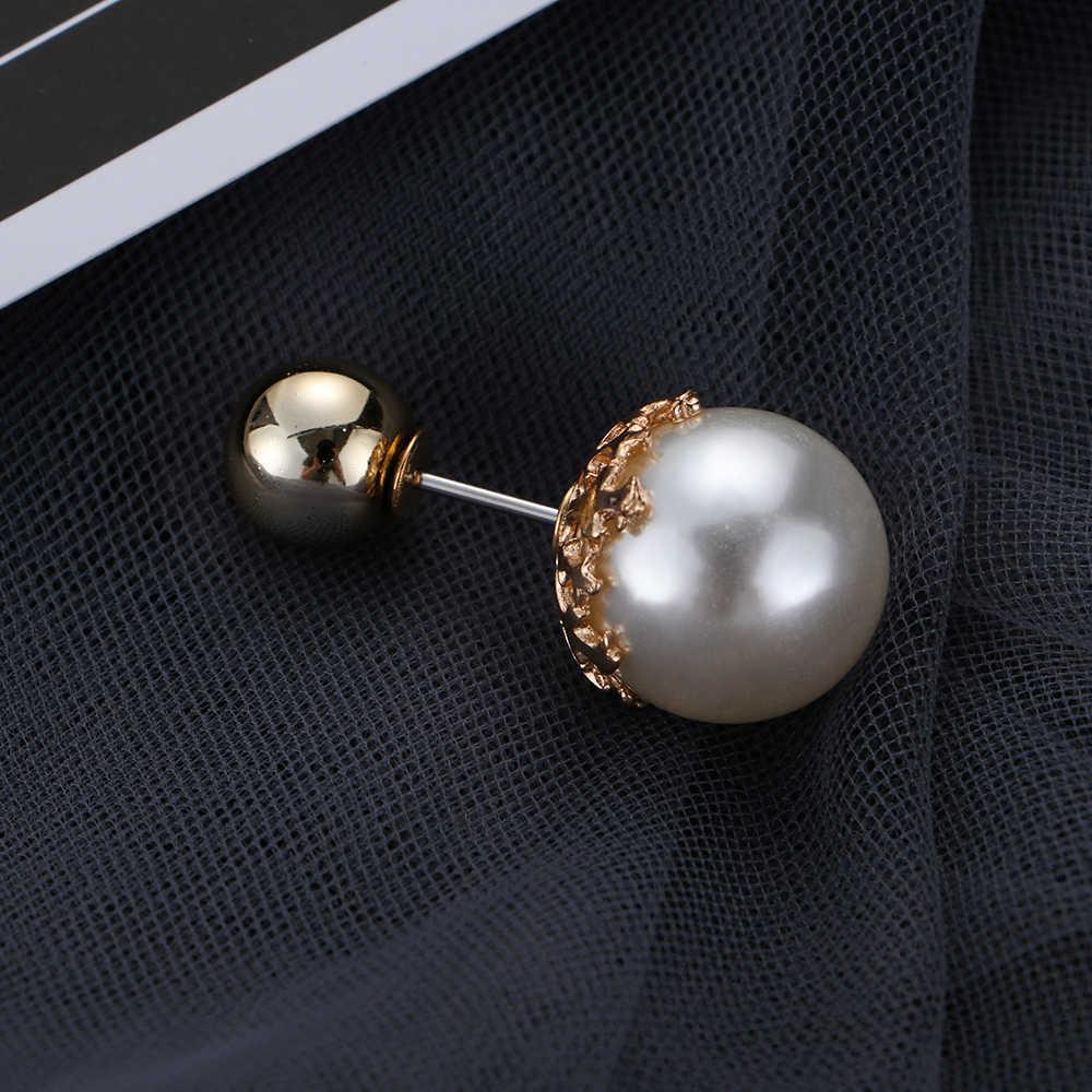 1/3Pcs Senhoras Elegante Casal de Pérolas Broche Charme Da Moda Prático Blusa Pin Trendy Jóias Corsage Mulheres Roupas Acessórios