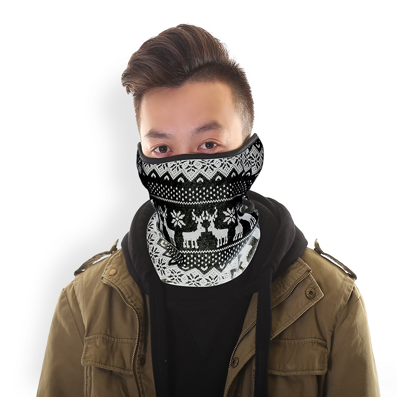 Thicken Printed Masks Men Women Fashion 52*30CM Ears Protection Scarf Fashion Cartoon Pattern High Quality Riding Warm Masks