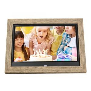 10.1inch Digital Photo Frame Wood 1280*800 IPS HD Screen Electronic Album Movie Player for Family Friends Wedding Birthday Gifts