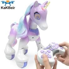 KaKBeir RC cheval licornes Robot dessin animé Animal mignon Intelligent Induction modèle électrique Animal de compagnie jouets éducatifs pour enfants