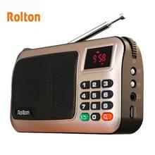 Rolton W405 الرقمية المحمولة مشغل Mp3 صغير محمول راديو Fm مشغل موسيقى المتكلم TF USB مع مضيا المال التحقق