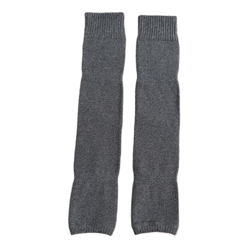 Women Winter Over Knee High Footless Socks Knit Thicken Towel Lined Leg Warmers 2XPC