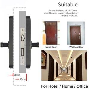 Image 4 - RAYKUBE biyometrik parmak izi kilidi şifre/akıllı kart/Bluetooth TT kilidi APP geçici şifre kilidini ev otel için R FG6