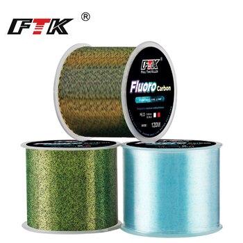 FTK 120 м невидимая рыболовная леска Speckle с фторуглеродным покрытием, рыболовная леска 0,20 мм-0,50 мм 4.13LB-34.32LB, сверхпрочная пятнистая леска