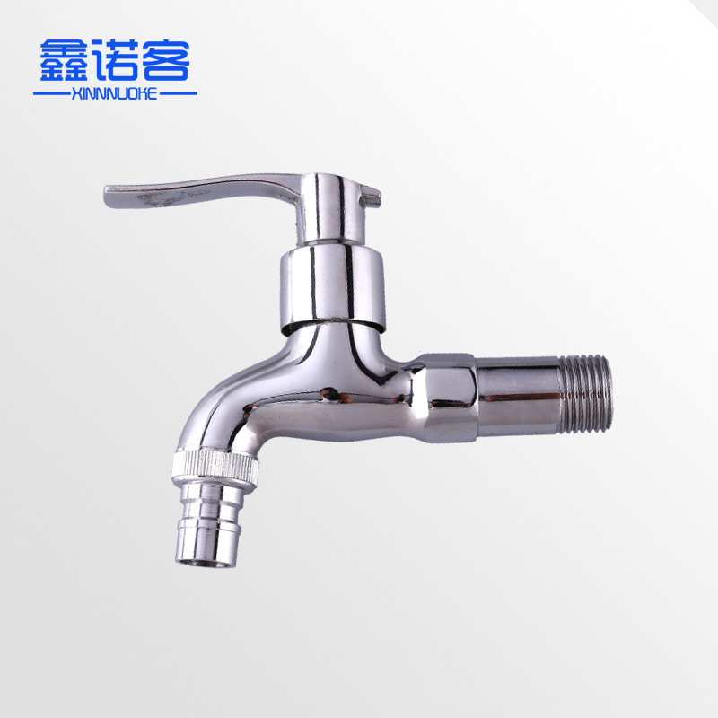 Copper Medium-length Quick Opening Faucet Wholesale Wall-in Washing Machine Faucet Mop Pool Water Nozzle Manufacturers Direct Se