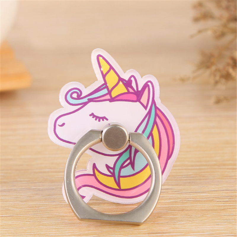 UVR Unicorn Mobile Phone Stand Holder Unicorn Finger Ring Mobile Smartphone Holder Stand For IPhone Xiaomi Huawei All Phone