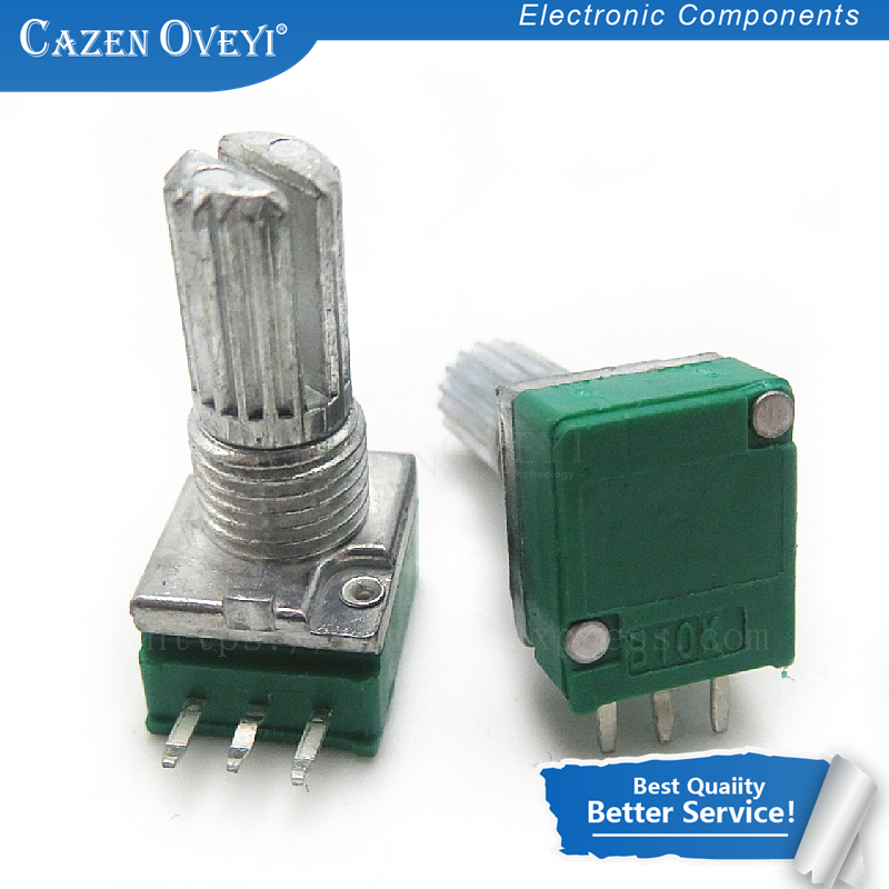 1 шт./лот RK097N 1K 5K 10K 20K 50K 100K 500K 250K B5K с переключателем аудио 3-контактный вал 15 мм усилитель уплотнительный потенциометр