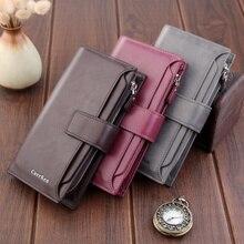 Men's long wallet men's dollar clip multifunctional suit bag mobile phone bag with zipper