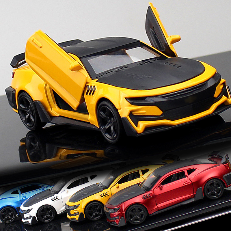 4 Colour Crazy Magic Finger Racing Alloy Sports Car Model 1:32 Metal Birthday Cake Ornaments Toys Gifts For Adult Collection