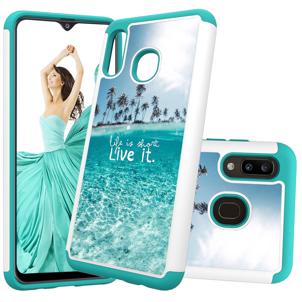 Lovely Painted Leather Phone Cases for Samsung Galaxy A20 A30 Case for Samsung A50 A20e A10e PC Back Cover Soft TPU Animal Coque-in Fitted Cases from Cellphones & Telecommunications