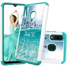 Schöne Painted Leder Phone Cases für Samsung Galaxy A20 A30 Fall für Samsung A50 A20e A10e PC Zurück Abdeckung Weichen TPU Tier Coque