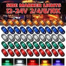 10 قطعة تحذير ضوء LED ديود ضوء البيضاوي التخليص مقطورة شاحنة البرتقال الأبيض الأحمر LED الجانب ماركر مصباح 12V 24V شاحنة