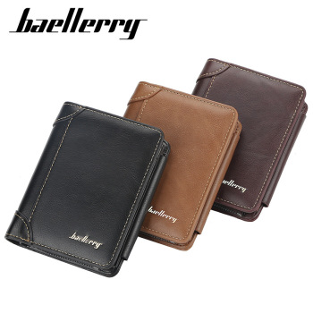 2020 New Leather Wallet Men  High Quality Zipper Short Desigh Card Holder Vintage Coin Purse Billetera Hombre