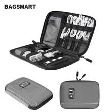 BAGSMART электронные аксессуары Органайзеры для sd-карт iPhone Dater кабели для наушников USB цифровые дорожные сумки