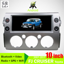 10.25 inch 2din Touchscreen GPS Multimedia Speler Voor 2007 2008-2017 Toyota FJ CRUISER Android Auto Radio Bluetooth WiFi DVD(China)