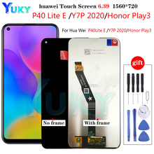 6.39 inch For Huawei P40 Lite E ART L29 / Y7p 2020 ART L28 LCD Display Touch Screen Digitizer Assembly With Frame