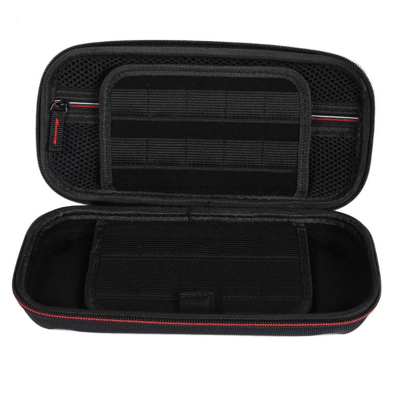 Carrying Protective Case Pouch w/Game Card Slot Fit Nylon Double Zipper Fine Workmanship Dust-proof for Nintend Switch Console