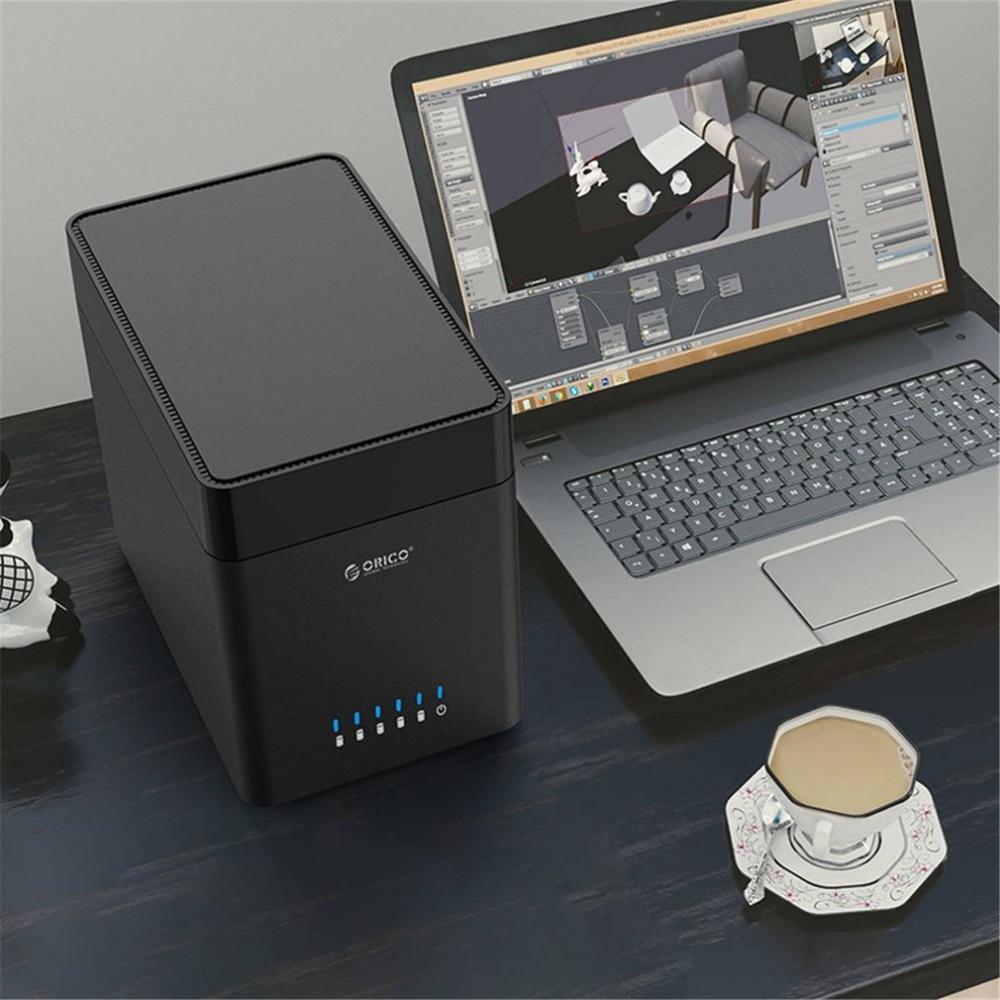 DS500U3 V1 Black Tool Free Aluminum USB 3.0 5 bay 3.5 inch SATA Hard Drive Enclosure HDD Docking Station Support 5*8TB - 3