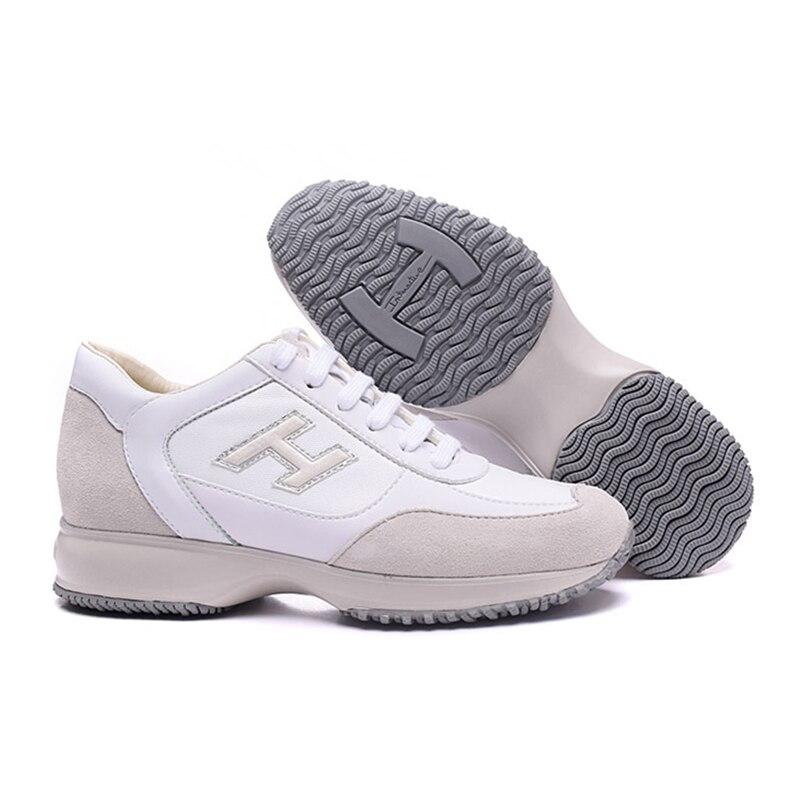 Hogan Women Vulcanize Shoes Breathable Sports Caual Sneakers Women's Outdoor Fashion Walking Platform Shoes Trainers Footwear